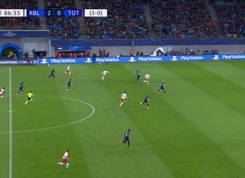 Goal: RB Leipzig 3 - 0 Tottenham Hotspur 87', Forsberg