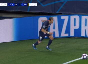 Goal: Paris SG 1 - 0 Borussia Dortmund 28', Neymar