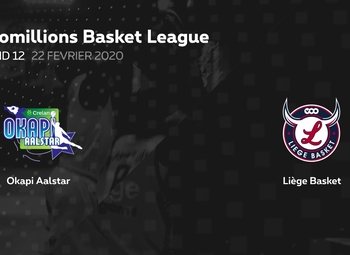 Samenvatting Okapi Aalstar - Liège Basket