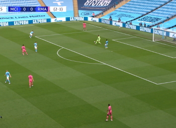 Goal: Manchester City 1 - 0 Real Madrid 9' Sterling