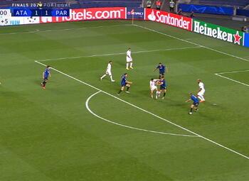 Goal: Atalanta Bergame 1 - 2 Paris SG 93' Choup-Moting