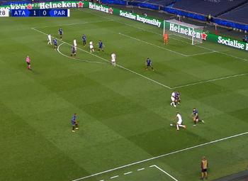 Goal: Atalanta Bergame 1 - 1 Paris SG 90' Marquinhos