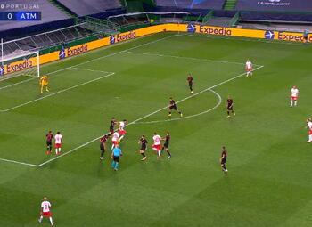 Goal: RB Leipzig 1 - 0 Atlético Madrid 50' Olmo