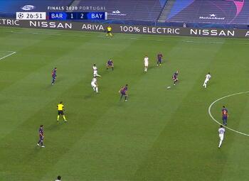 Goal: FC Barcelone 1 - 3 Bayern Munich 27' Gnabry