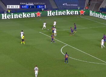 Goal: FC Barcelone 2 - 6 Bayern Munich 82' Lewandowski