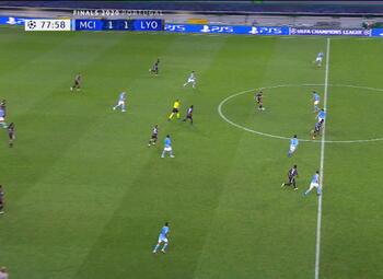 Goal: Manchester City 1 - 2 Lyon 79' Dembele
