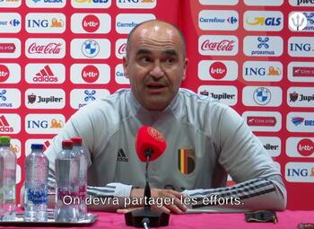 """Martinez: """"We zullen de inspanningen moeten verdelen."""""""