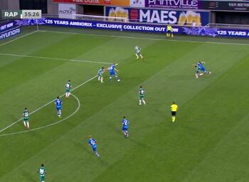 Goal: KAA Gent 1 - 0 Rapid Wien 36' Dorsch