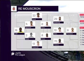 Journée 3 Anderlecht - Mouscron (1-1)