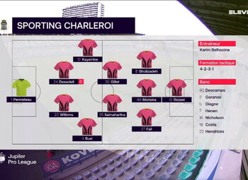 Speeldag 3 OH Leuven - Sporting Charleroi (1-3)