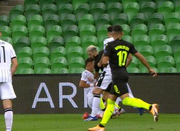 Penalty: Krasnodar 1 - 1 PAOK Saloniki 39' Claesson