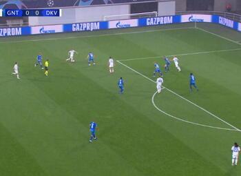 Goal: KAA Gent 0 - 1 Dynamo Kyiv 9', Supriaga