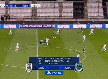Own Goal: PAOK Salonique 0 - 1 Krasnodar 72' Michalidis