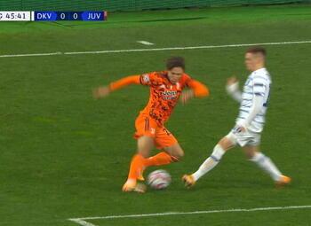 Goal: Dynamo Kiev 0 - 1 Juventus Turin 46', Morata