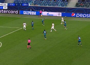 Goal: Zenit 1 - 2 FC Bruges 93', de Ketelaere