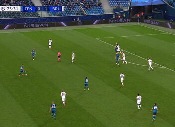 Goal: Zenit 1 - 1 FC Bruges 74', Horvath