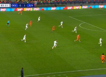 Goal: Dynamo Kiev 0 - 2 Juventus Turin 84', Morata