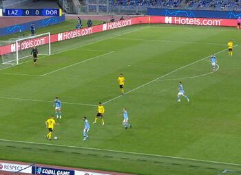 Goal: Lazio Rome 1 - 0 Borussia Dortmund 6', Immobile