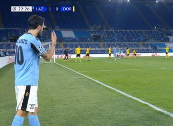 Goal: Lazio Rome 2 - 0 Borussia Dortmund 23', Felipe