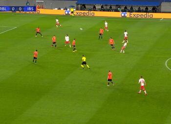 Goal: RB Leipzig 1 - 0 Istanbul BB 16' Angeliño