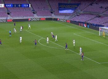 Goal: FC Barcelone 2 - 0 Ferencváros 42', Fati