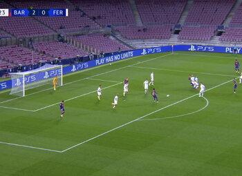 Goal: FC Barcelone 3 - 0 Ferencváros 52', Coutinho