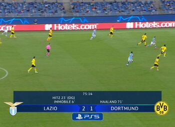Goal: Lazio Rome 3 - 1 Borussia Dortmund 76', Akpa Akpro