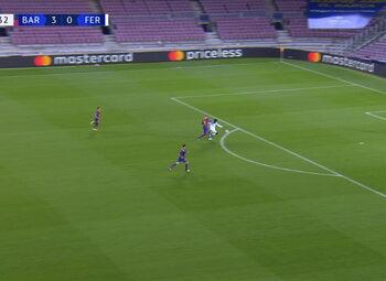 Goal: FC Barcelone 3 - 1 Ferencváros 70', Kharatin