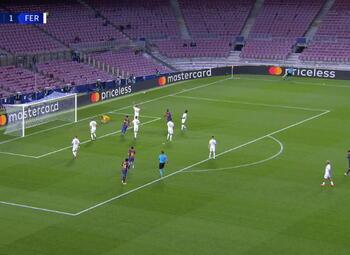 Goal: FC Barcelone 5 - 1 Ferencváros 89', Dembele