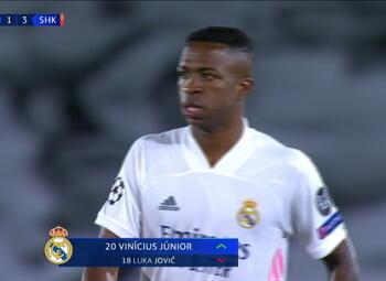 Goal: Real Madrid 2 - 3 Sh Donetsk 59' Vinícius Júnior