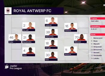 Speeldag 13 KV Oostende - Royal Antwerp (1-1)
