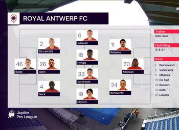 Speeldag 15 KRC Genk - Royal Antwerp (4-2)