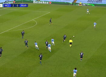 Goal: Manchester City 3 - 0 Marseille 90' Sterling