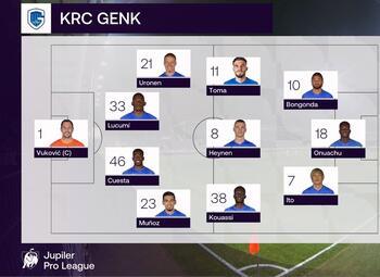 Speeldag 18 Eupen - KRC Genk (1-4)