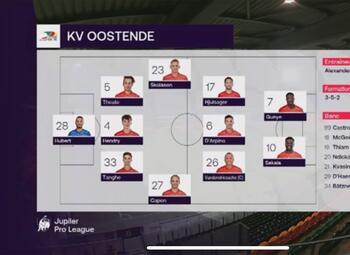 Speeldag 30 KV Oostende - Sporting Charleroi (3-2)