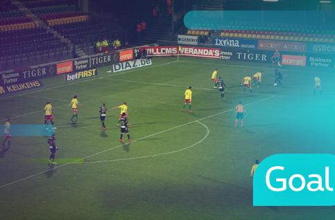 Goal: Ostende 1 - 1 Saint-Trond 90' De Sart
