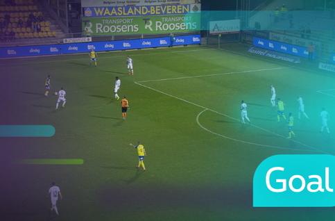 Goal: Waasland-Beveren 2 - 1 Cercle Bruges: 83', Badibanga
