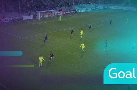 Goal: Eupen 1 - 1 Ostende: 45', De Sutter