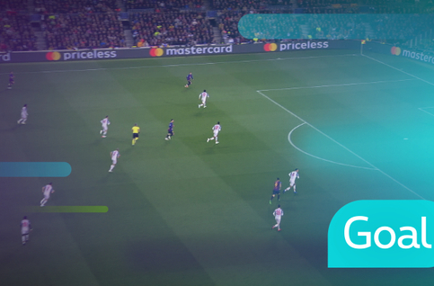 Goal: FC Barcelona 1 - 0 Liverpool 26' Suarez