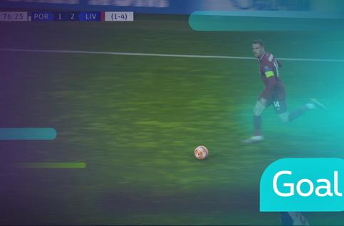Goal: FC Porto 1 - 3 Liverpool, 77' Firmino