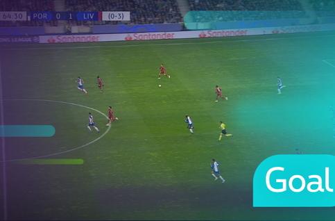 Goal: FC Porto 0 - 2 Liverpool, 65' Salah