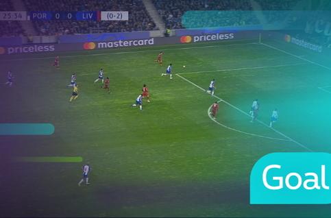 Goal: FC Porto 0 - 1 Liverpool, 28' Mané