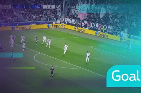 Goal: Juventus 1 - 1 AFC Ajax: 34', Van de Beek