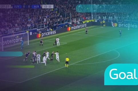 Goal: Juventus 1 - 0 AFC Ajax: 28', Ronaldo