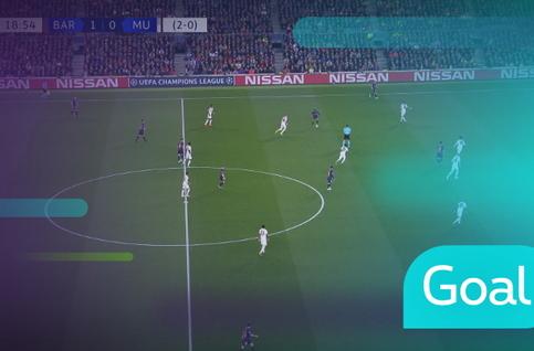Goal: FC Barcelona 2 - 0 Manchester United: 20', Messi