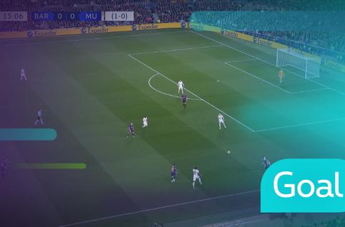 Goal: FC Barcelona 1 - 0 Manchester United: 16', Messi