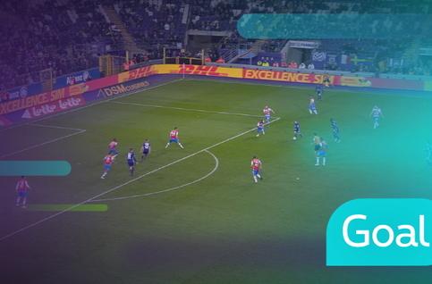 Goal: RSC Anderlecht 2 - 3 Club Brugge: 90', Trebel