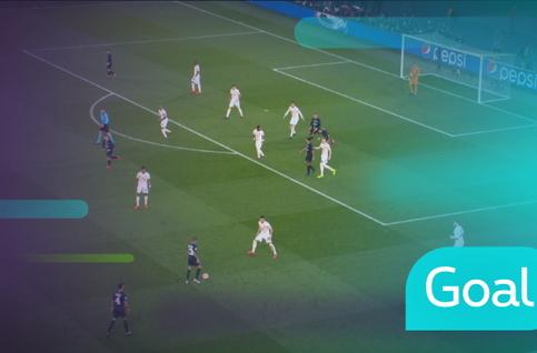 Goal: Paris SG 1 - 1 Manchester United 12' Bernat