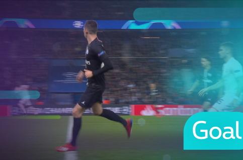 Goal: Paris SG 0 - 1 Manchester United 2' Lukaku