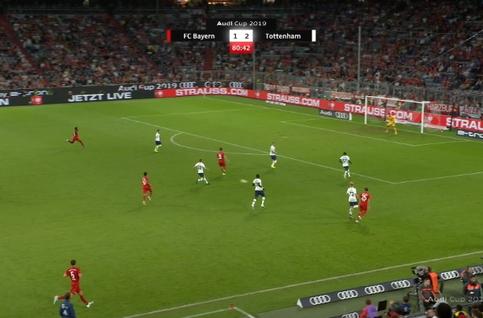 Goal: Bayern Munich 2 - 2 Tottenham 82', Davies